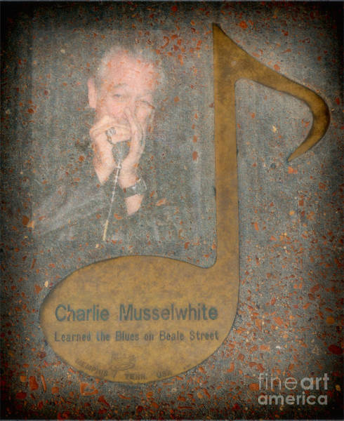 Photograph - Charlie Musselwhite Note by Donna Greene