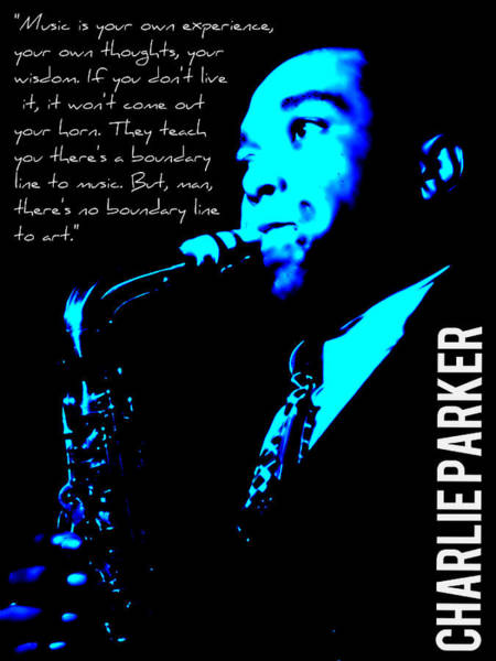 Mixed Media - Charlie Parker by Michelle Dallocchio