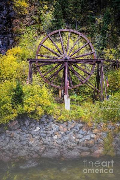 Photograph - Charlie Tayler Water Wheel by Jon Burch Photography