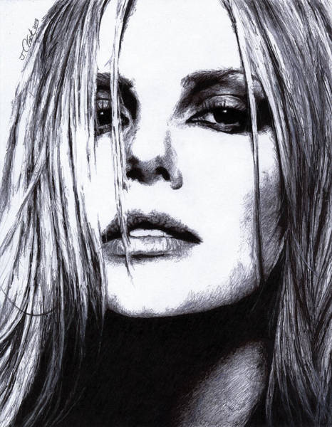 Sharpie Wall Art - Drawing - Charlize Theron by Justin Clark