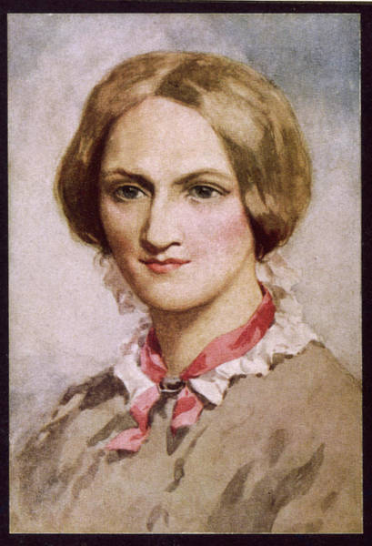 Wall Art - Drawing - Charlotte Bronte  Writer        Date by Mary Evans Picture Library
