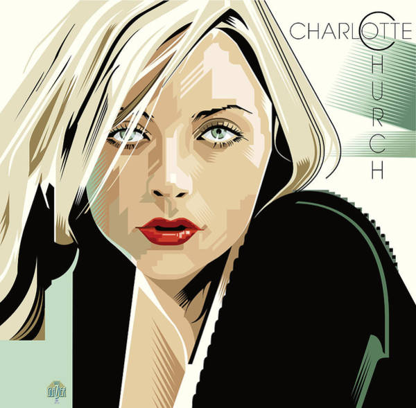 Wall Art - Digital Art - Charlotte Church Portrait by Garth Glazier