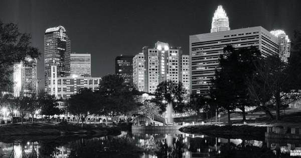 Wall Art - Photograph - Charlotte Panoramic In Black And White by Frozen in Time Fine Art Photography