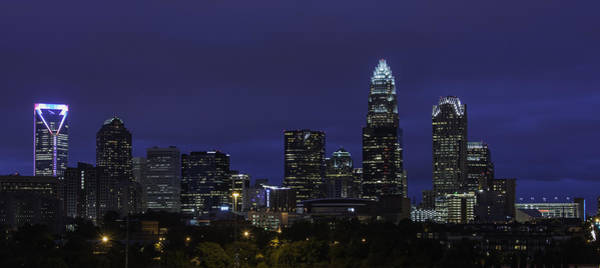 Photograph - Charlotte Skyline 0002 by Donald Brown