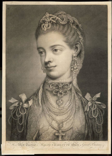 Wall Art - Drawing - Charlotte Sophia  Wife Of George IIi by Mary Evans Picture Library