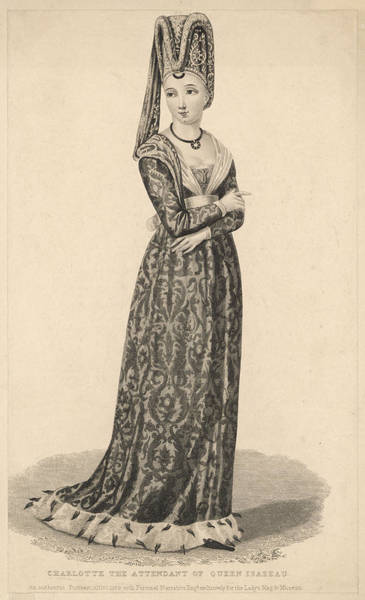 Wall Art - Drawing - Charlotte, The Attendant Of  Queen by Mary Evans Picture Library