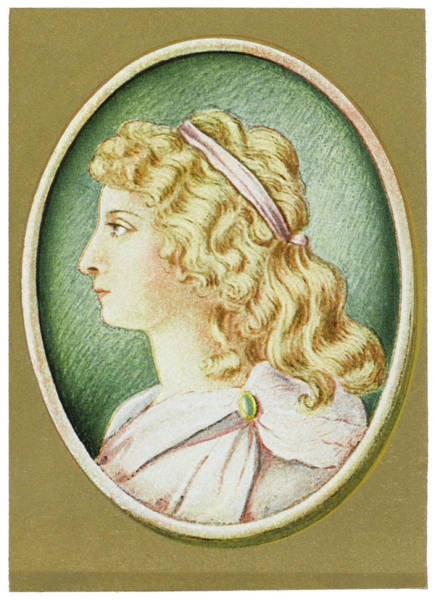 Charlotte Von Schiller  Wife Art Print by Mary Evans Picture Library
