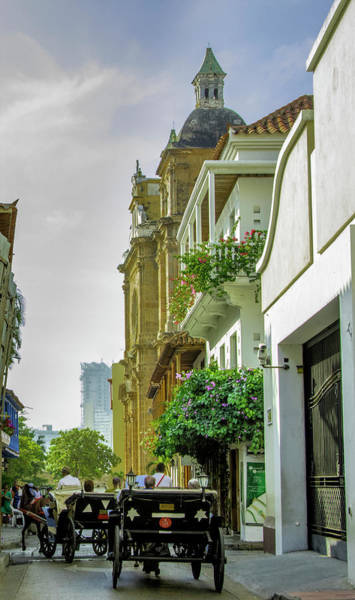 Cartagena Photograph - Charming Horse-drawn Carriages Take by Jerry Ginsberg