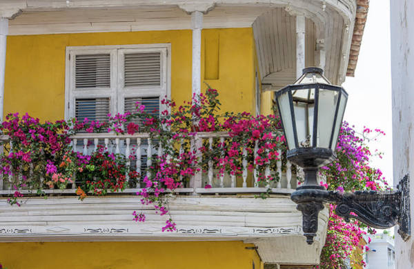 Colombian Wall Art - Photograph - Charming Old World Balconies by Jerry Ginsberg