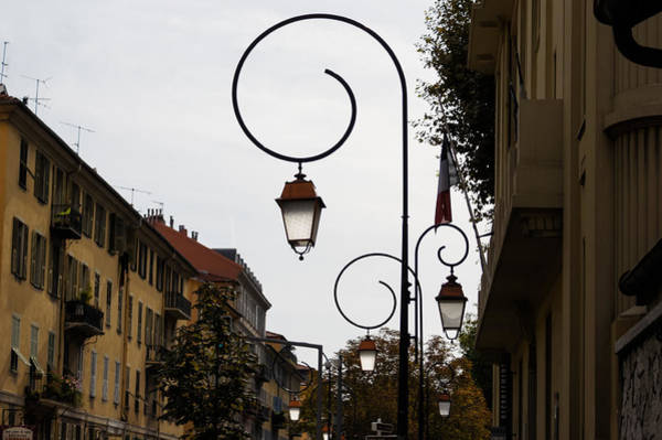 Photograph - Charming Streetlamps In Old Town Nice France French Riviera by Georgia Mizuleva