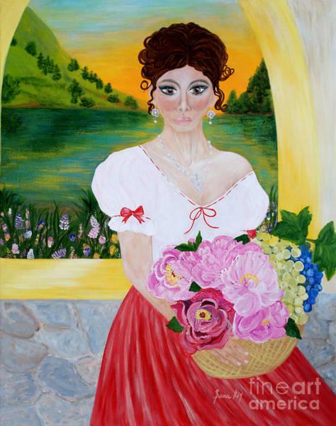 Painting - Charming Woman. Inspirations Collection. by Oksana Semenchenko