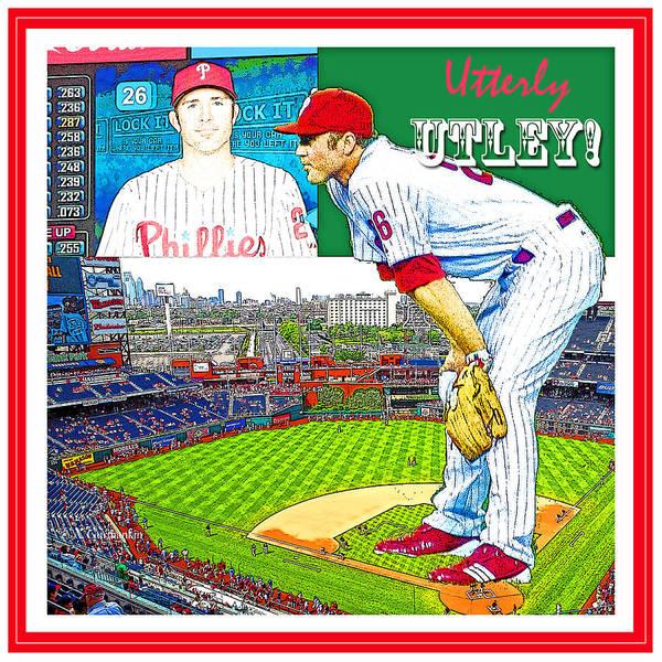 Chase Utley Poster Utterly Utley Art Print