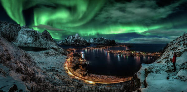 Northern Photograph - Chasing The Northern Lights by Javier De La
