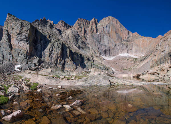 Fourteener Photograph - Chasm Lake by Aaron Spong