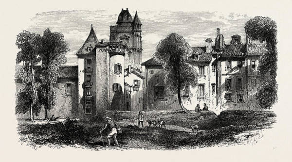 Chateau Drawing - Chateau At Bayonne, The Pyrenees, France by French School