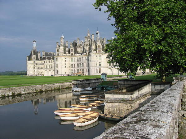 Chateau Chambord Boating Art Print