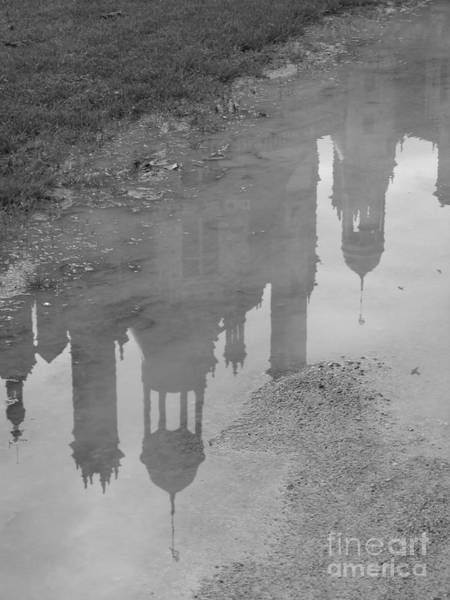 Chateau Chambord Reflection Art Print