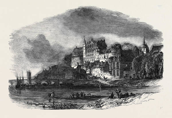 Chateau Drawing - Chateau Damboise, On The Loire by English School