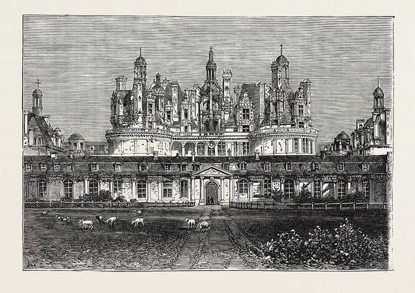 Chateau Drawing - Chateau De Chambord, France by French School