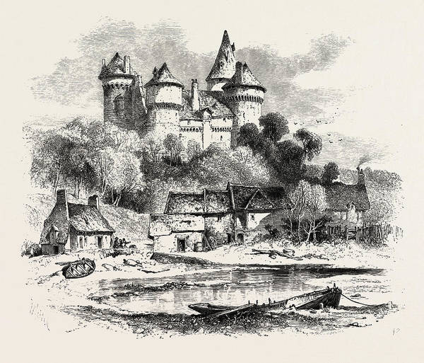 Chateau Drawing - Chateau De Combourg, Normandy And Brittany by French School