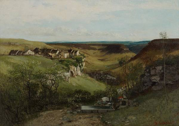 Ch Painting - Chateau Dornans by Gustave Courbet