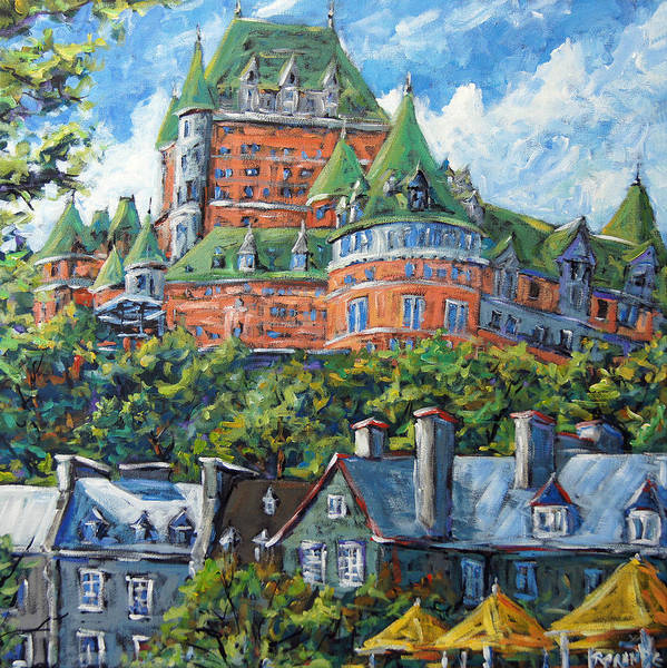 Fineart Painting - Chateau Frontenac By Prankearts by Richard T Pranke