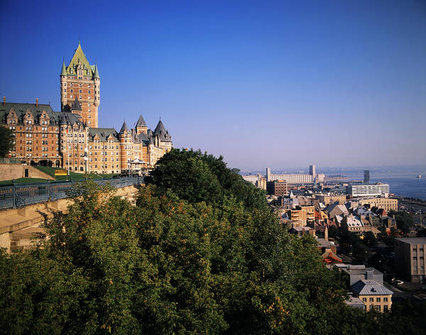 Quebec Photograph - Chateau Frontenac Hotel, Quebec City by Danita Delimont