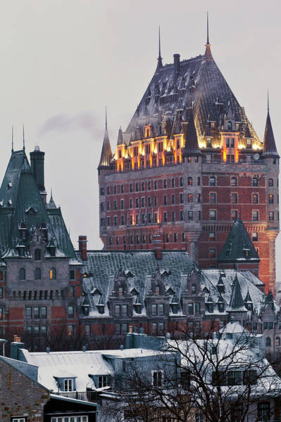 Chateau Frontenac In Winter Art Print by Doug Mckinlay