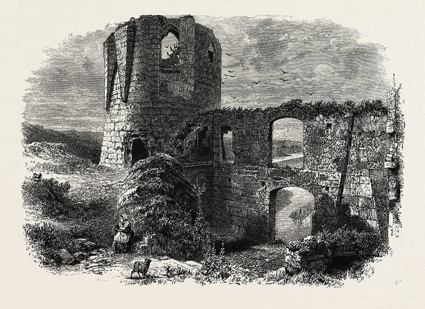 Chateau Drawing - Chateau Gaillard, Normandy And Brittany, France by French School