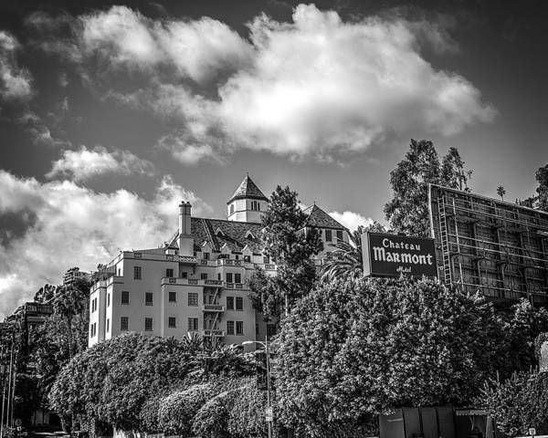 Blvd Photograph - Chateau Marmont B/w by Robert Fowler