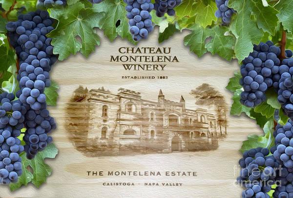 Wine Barrels Photograph - Chateau Montelena by Jon Neidert