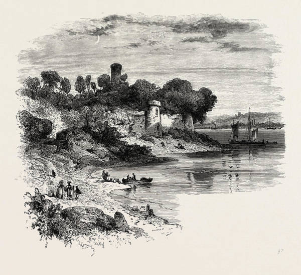 Chateau Drawing - Chateau On The Rance, Normandy And Brittany by French School