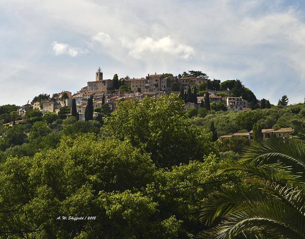 Chateauneuf Photograph - Chateauneuf Du Grasse by Allen Sheffield