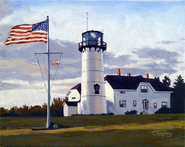 Wall Art - Painting - Chatham Lighthouse Cape Cod Massachusetts by Christine Hopkins