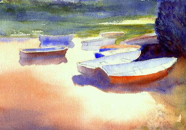 Painting - Chatham Skiffs by Peter Senesac