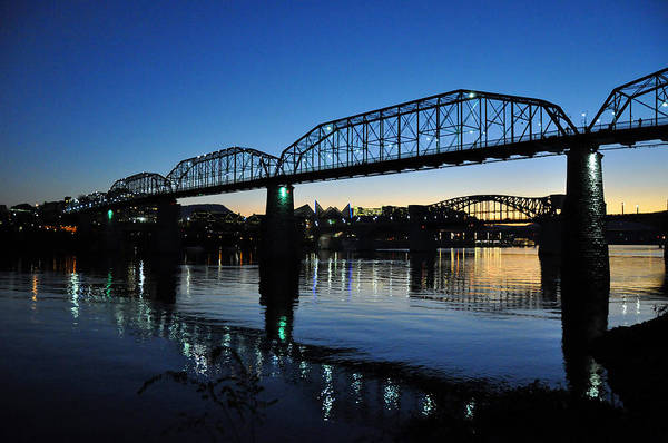 Photograph - Tennessee River Bridges Chattanooga by Matthew Chapman