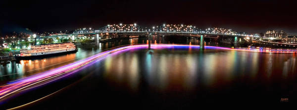 Photograph - Chattanooga Holiday Boat Parade by Steven Llorca