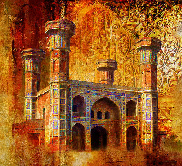 Wall Art - Painting - Chauburji Gate by Catf