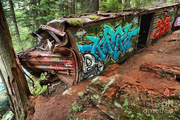 Train Derailment Photograph - Cheakamus River Train Derailment by Adam Jewell