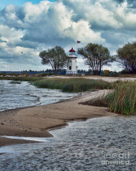 Photograph - Cheboygan Crib Lighthouse #18 by Crystal Nederman