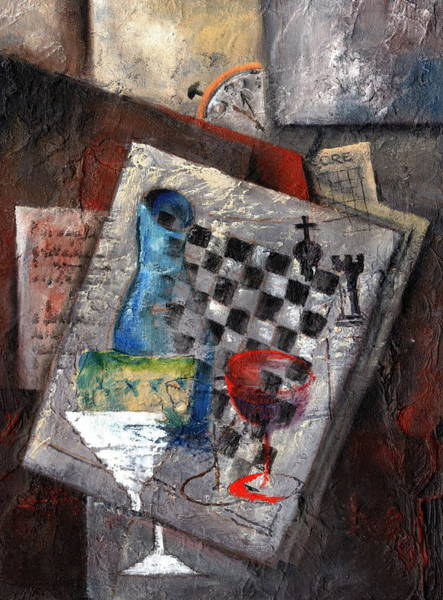 Painting - Check Mate by Val Byrne