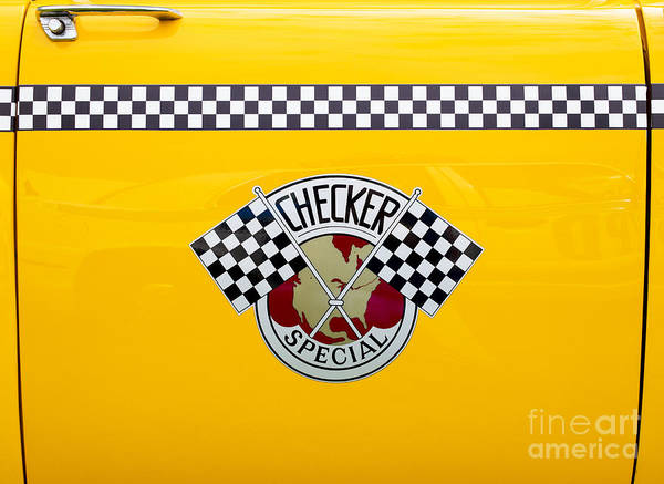 Yellow Taxi Photograph - Checker Special by Tim Gainey