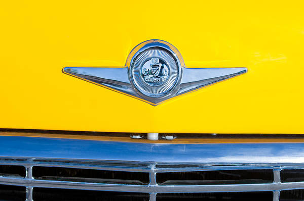 Photograph - Checker Taxi Cab Emblem by Jill Reger