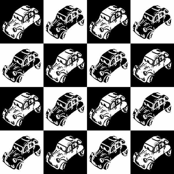 Photograph - Checkerboard Deux Chevaux by Richard Reeve