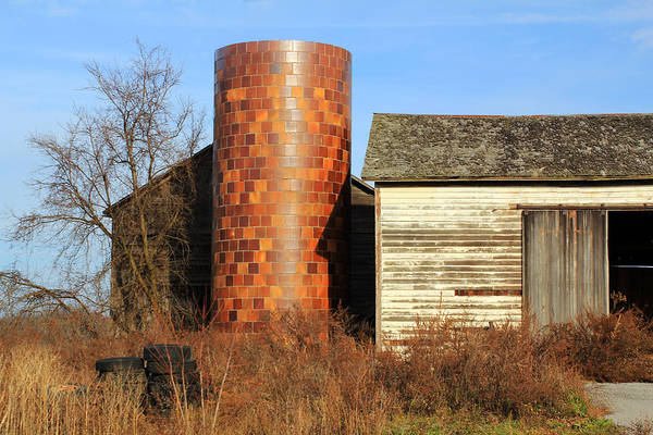 Photograph - Checkerboard Silo by Jennifer Robin