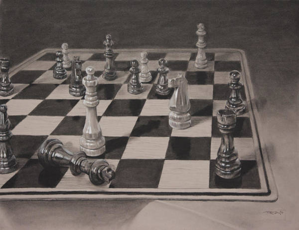 Chess Knight Wall Art - Painting - Checkmate by Christopher Reid