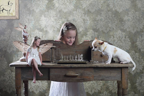 Tale Photograph - Checkmate Or 3 Against 1 by Victoria Ivanova