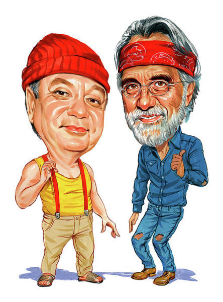 Laughter Wall Art - Painting - Cheech Marin And Tommy Chong As Cheech And Chong by Art