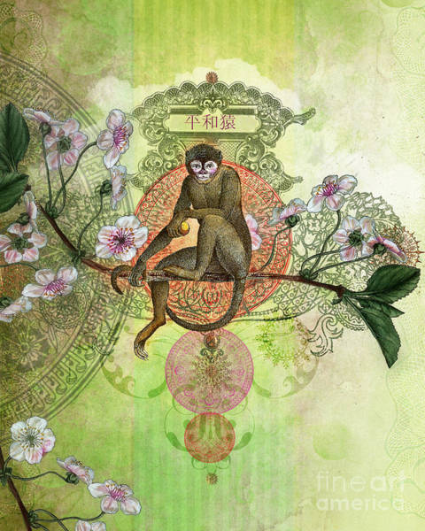 Monkey Flower Wall Art - Photograph - Cheeky Monkey by MGL Meiklejohn Graphics Licensing