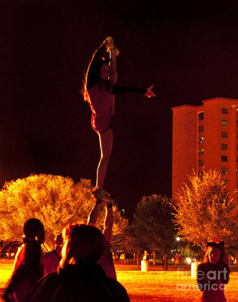Photograph - Cheer Leaders At Texas Tech Home Coming by Mae Wertz